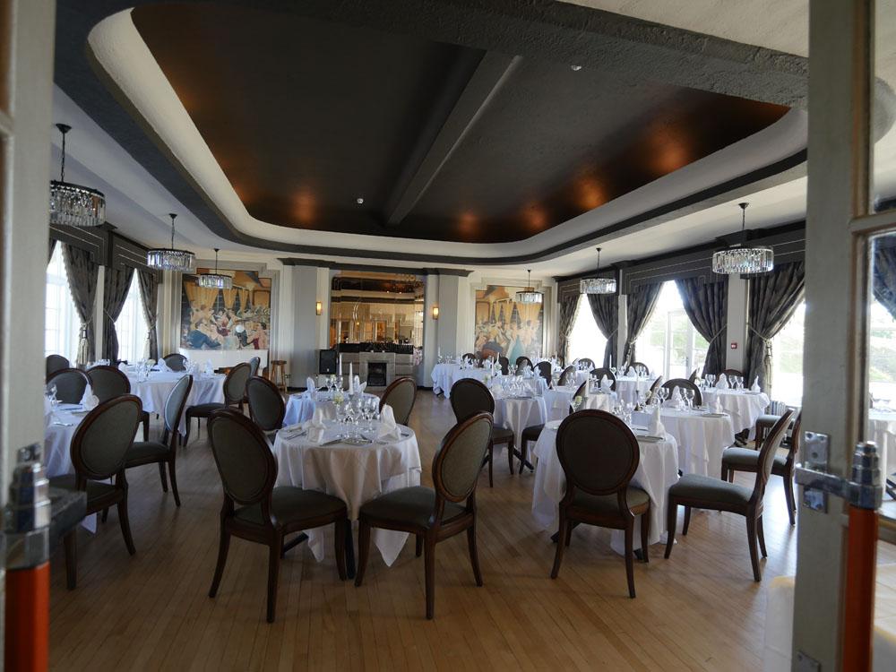 The Ballroom Burgh Island Set for Dinner