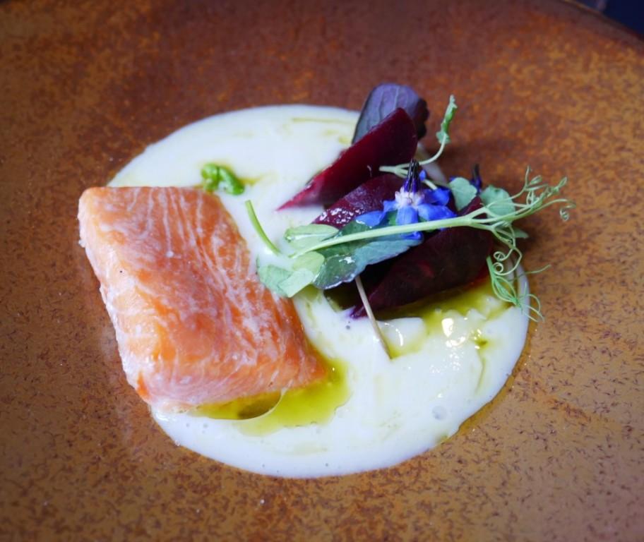 Dainty salmon starter