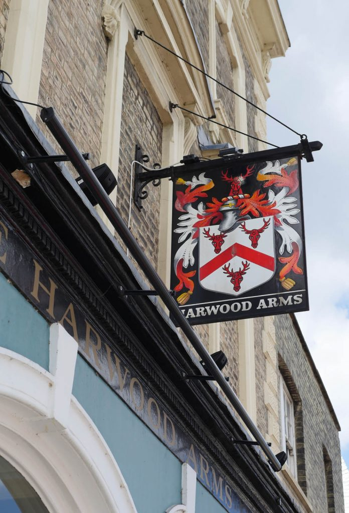 The Harwood Arms Pub Sign