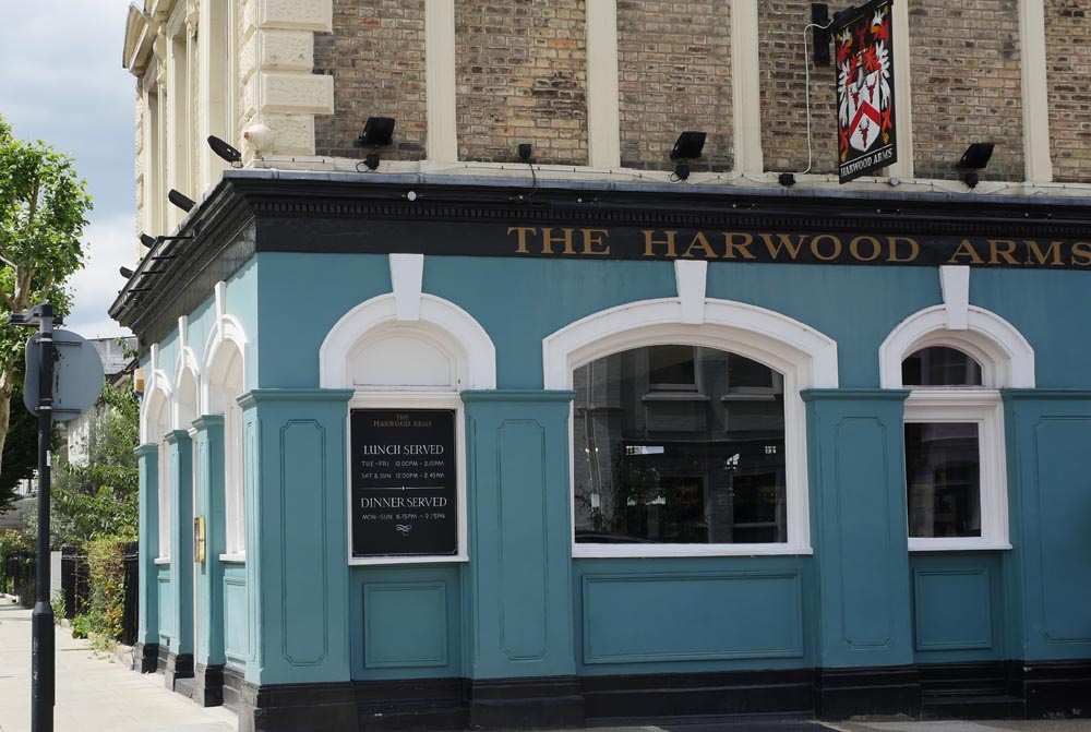 The Harwood Arms, Fulham from the street