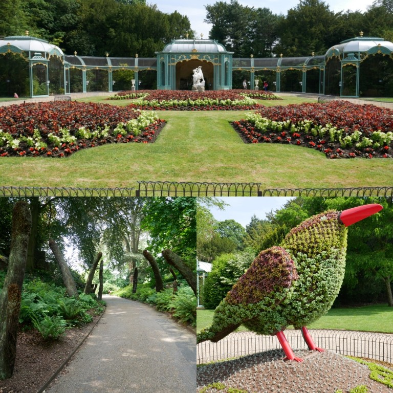 The aviary, topiary and gardens at Waddesdon Manor