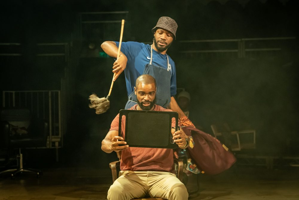 Tom-Moutchi-and-Micah-Balfour-in-Barber-Shop-Chronicles-at-the-Roundhouse-c-Marc-Brenner
