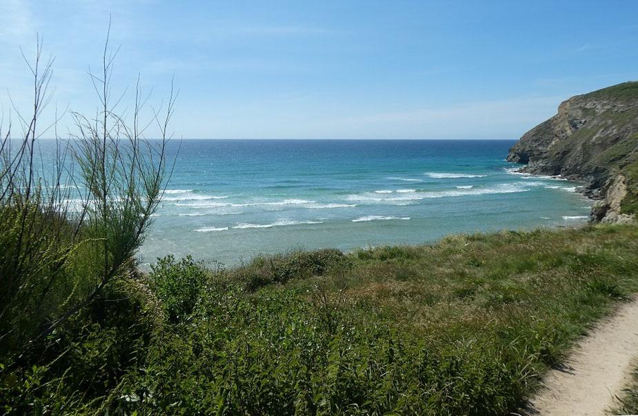 View-coast-path-Cornwall at