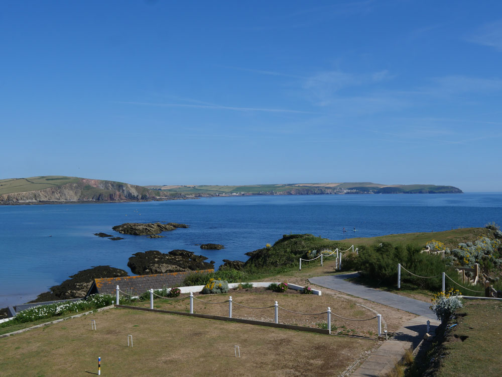 View from the Terrace Burgh Island Hotel
