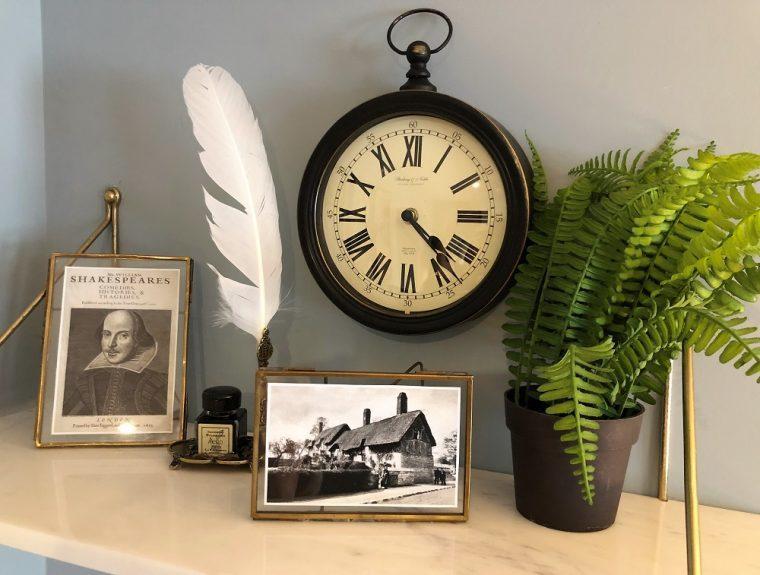 a shelf display in the hotel indigo stratford