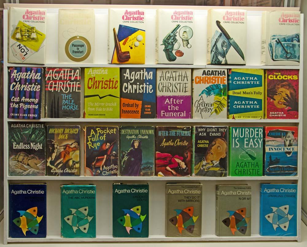 First Editions of Agatha Christie Novels at Greenway - copyright Alex Graeme, Unique Devon Tours