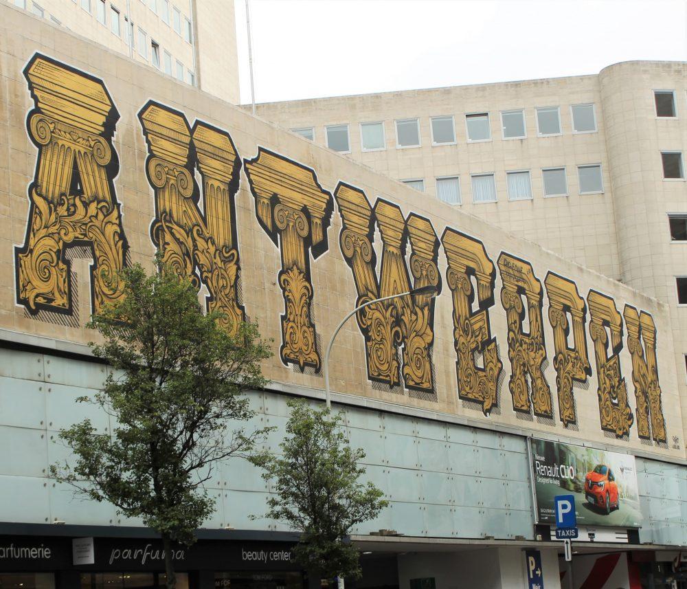 Visiting Antwerp, Antwerpen sign