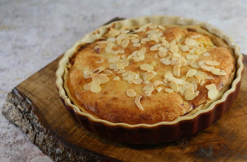 Peach Melba Bakewell Tart Cooked