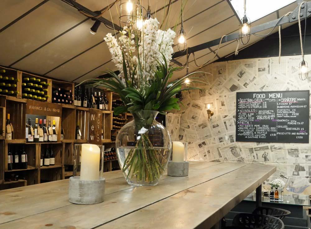 Bottles and Battles Italian wine bar at Mercato Metropolitano