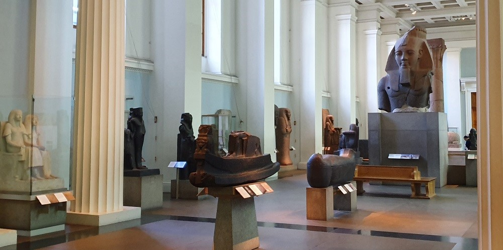 British-Museum-Egyptian-sculpture-gallery-empty-of-people