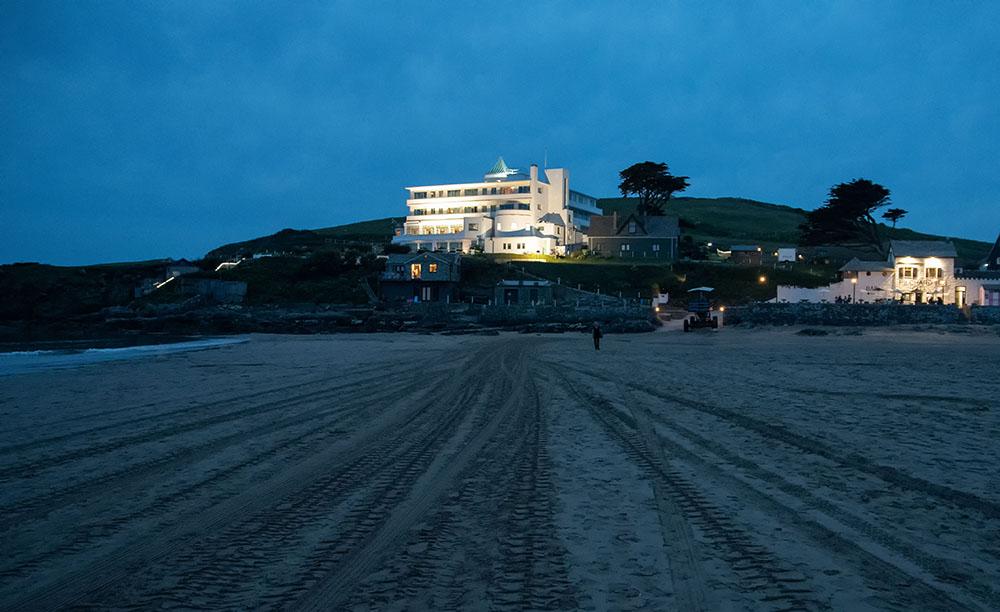 Burgh Island Hotel at Night Copyright Alex Graeme, Unique Devon Tours