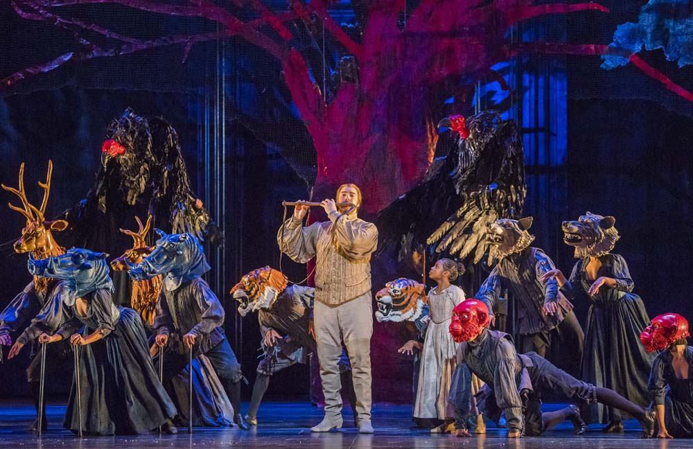 A scene from Die Zauberflote by Mozart @ Royal Opera House.