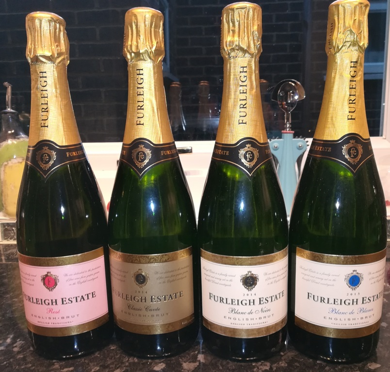 The range of Furleigh Estate sparkling wines