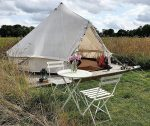Home Farm Glamping - Tent and table
