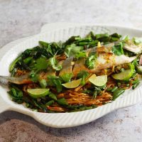 Asian Style Oven Steamed Seabass