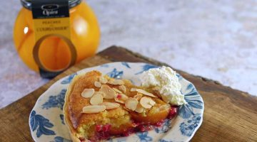 Peach Melba Tart with Courvousier Cream