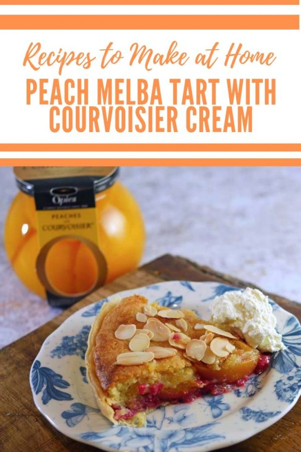 Peach Melba Tart with Courvoisier Cream
