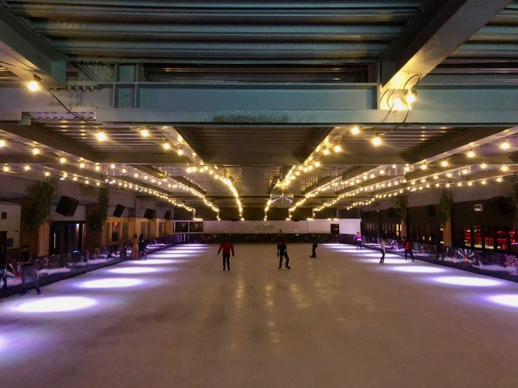 QUEENS Skate, Dine and Bowl ice rink