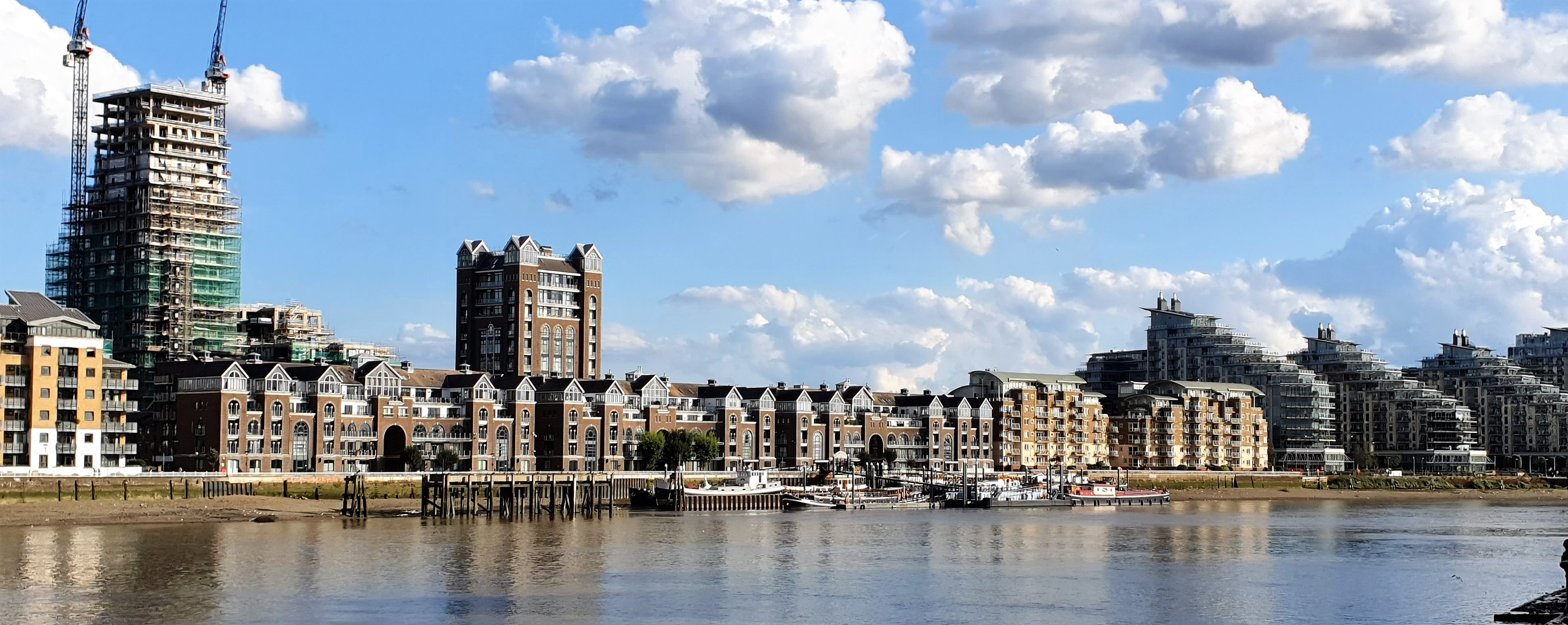 South side of Thames from Imperial Gardens.