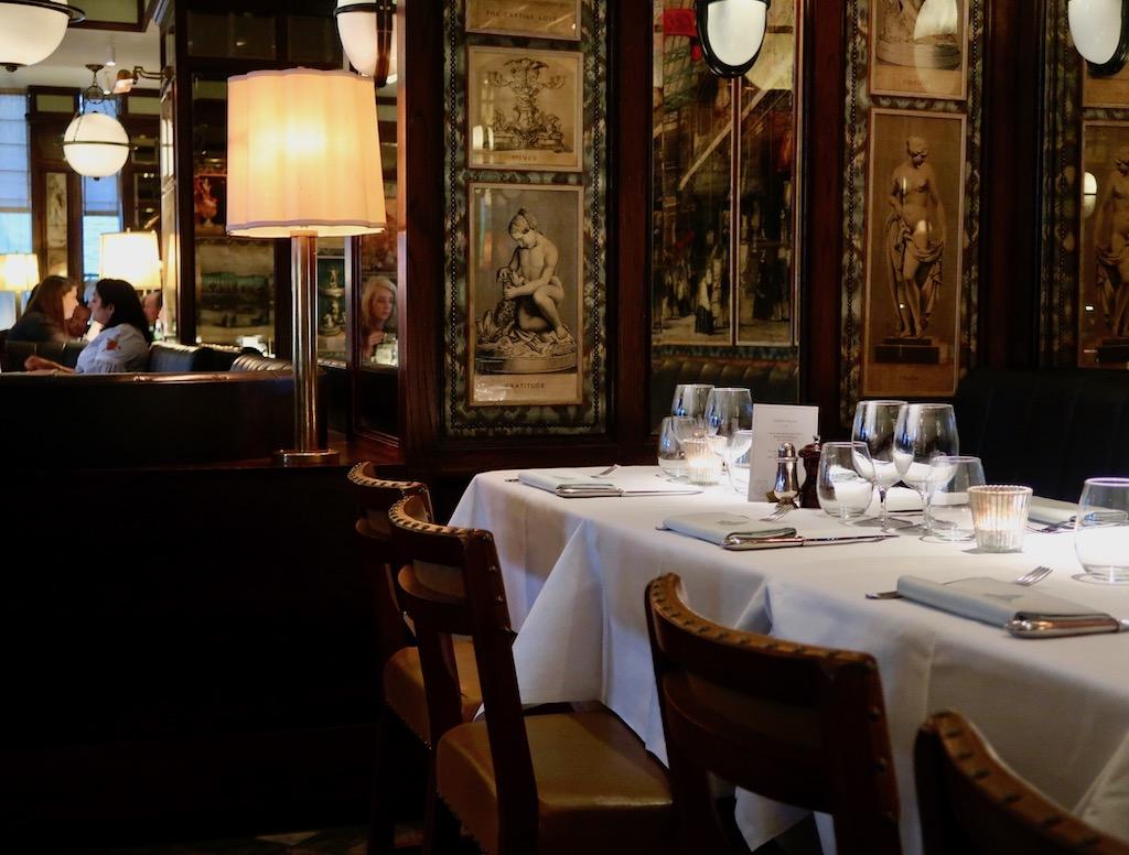 The Ivy Kensington Brasserie - table