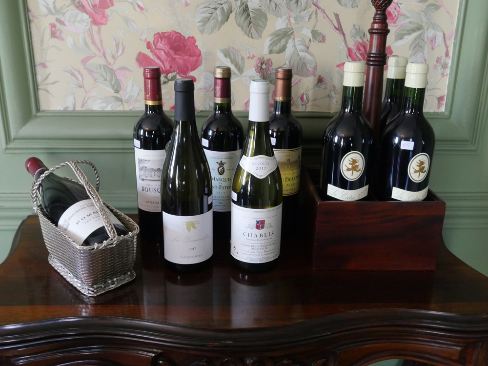 Wines at Chateau de Picheny