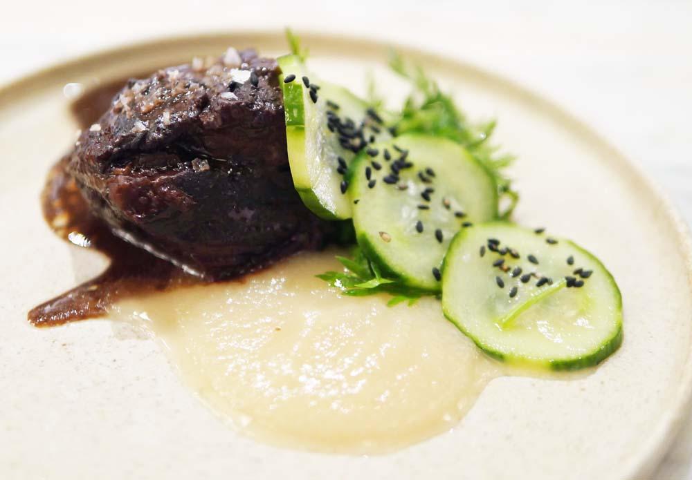 Beef with Kohlrabi - Angeline Restaurant Dalston