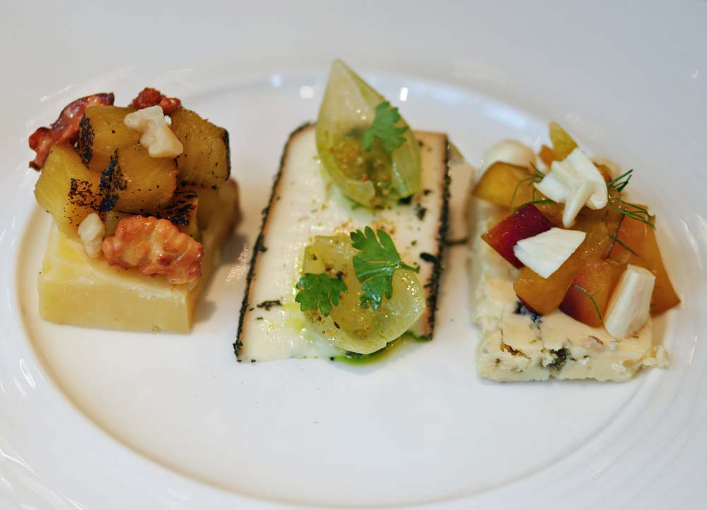 Cheeses with garnish - Adam Simmonds at the Capital, Knightsbridge