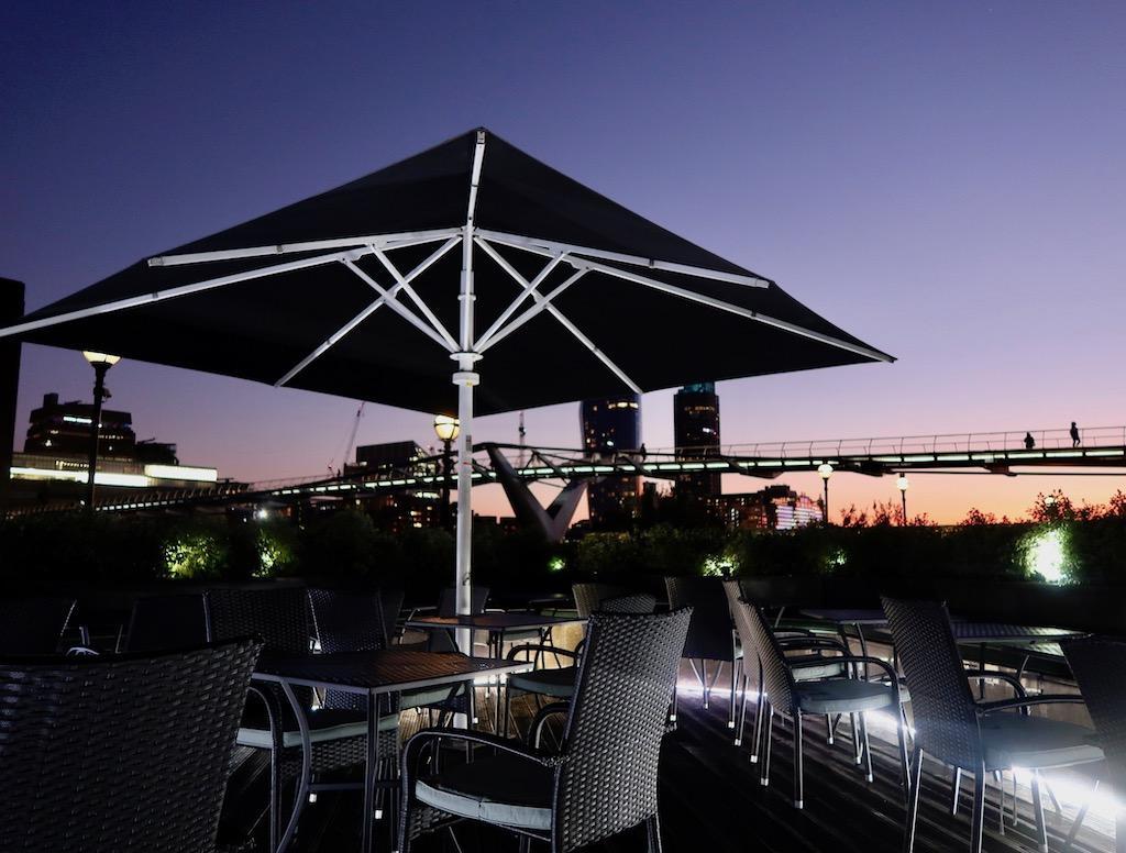 Northbank riverside restaurant terrace