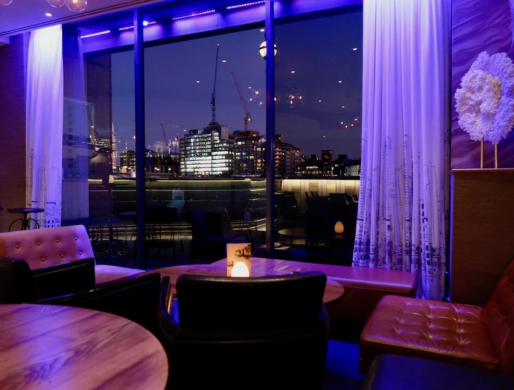 Northbank riverside restaurant window view