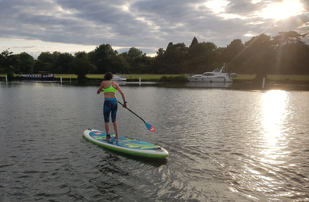 SUP on the River Thames at Henley