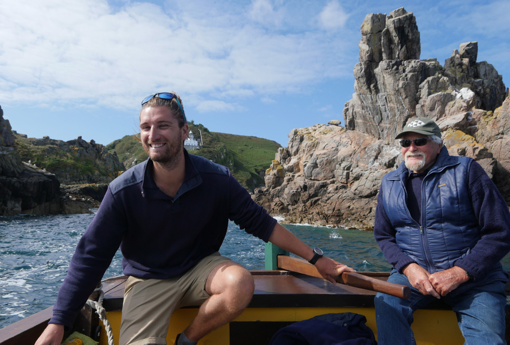 Sark - Boat Trip - Father and Son