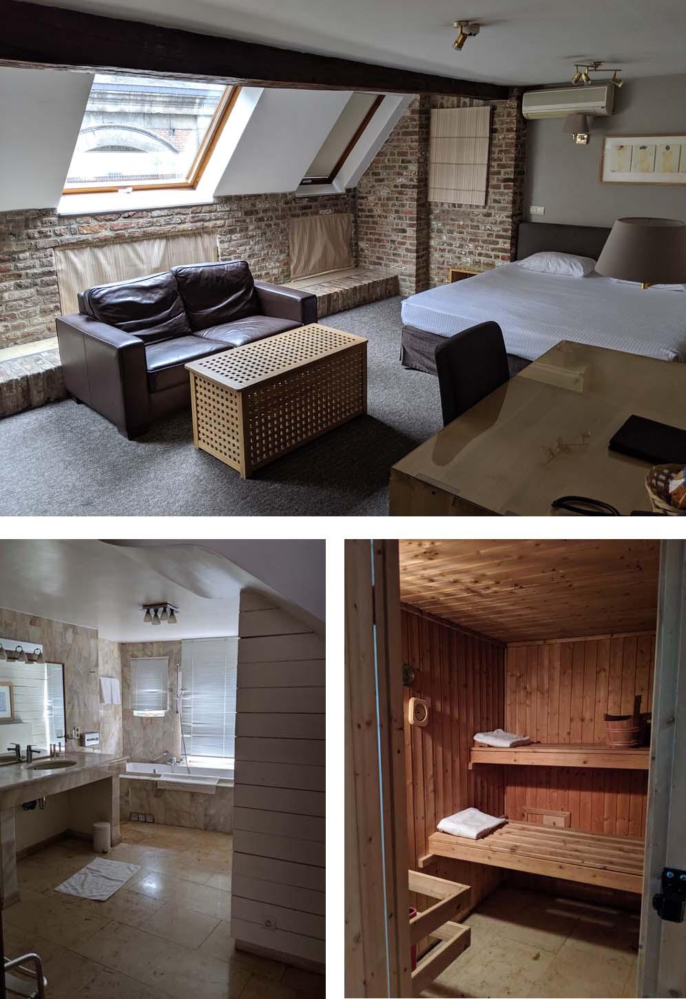Sauna Room at Hotel les Tanneurs Namur