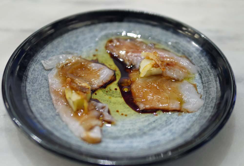 Seabream Sashimi - Angelina Restaurant Dalston