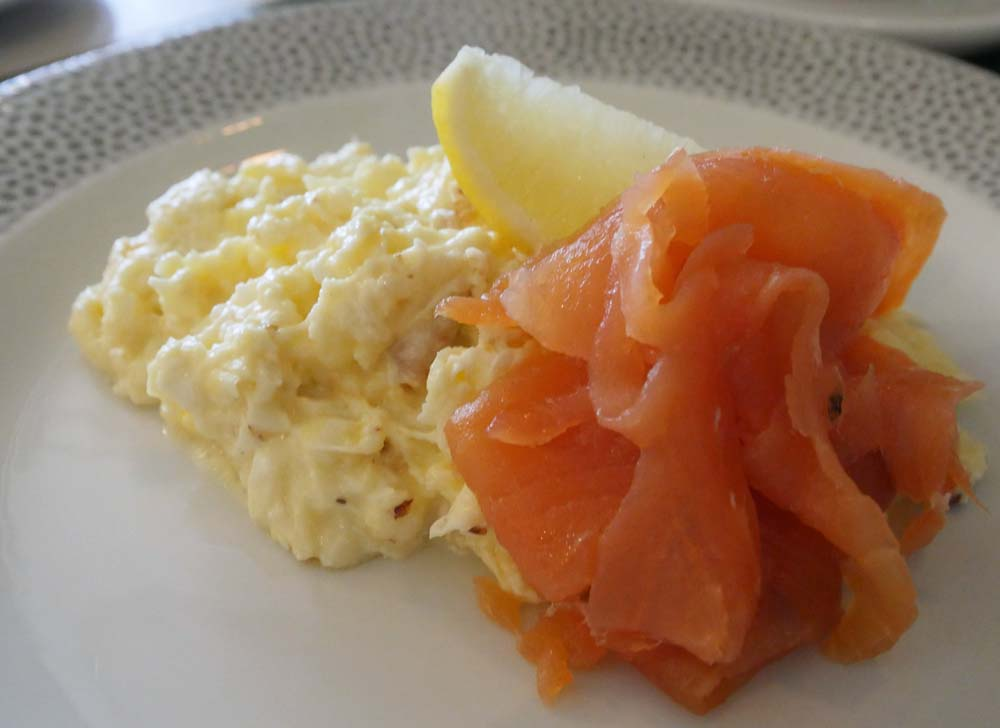 Smoked Salmon and Scrambled Egg - Foxhills Breakfast