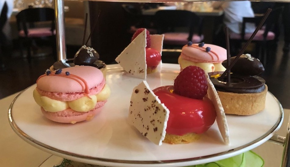 Sweet selection afternoon tea at Berners Tavern