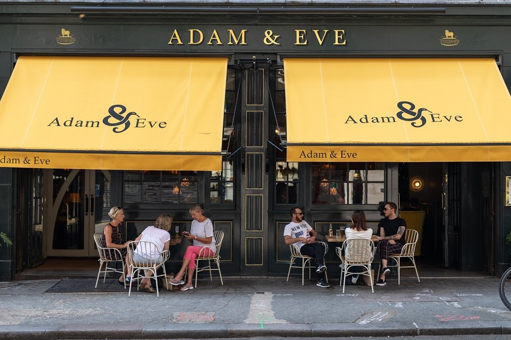The Adam & Eve pub W1 - exterior.j