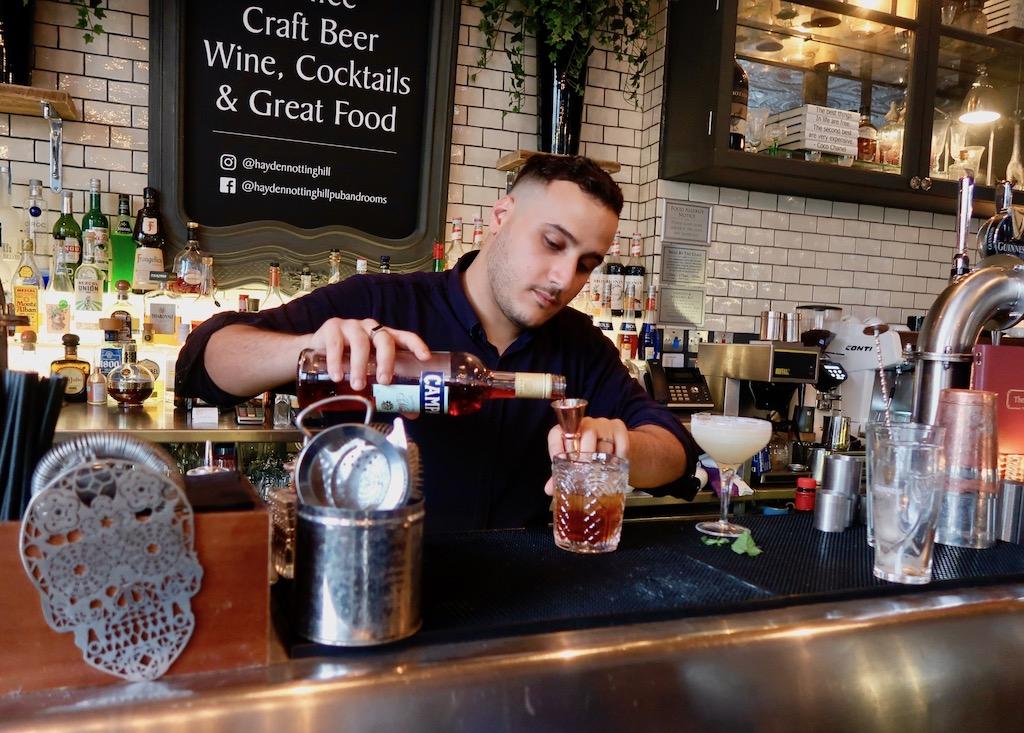 The Hayden barman