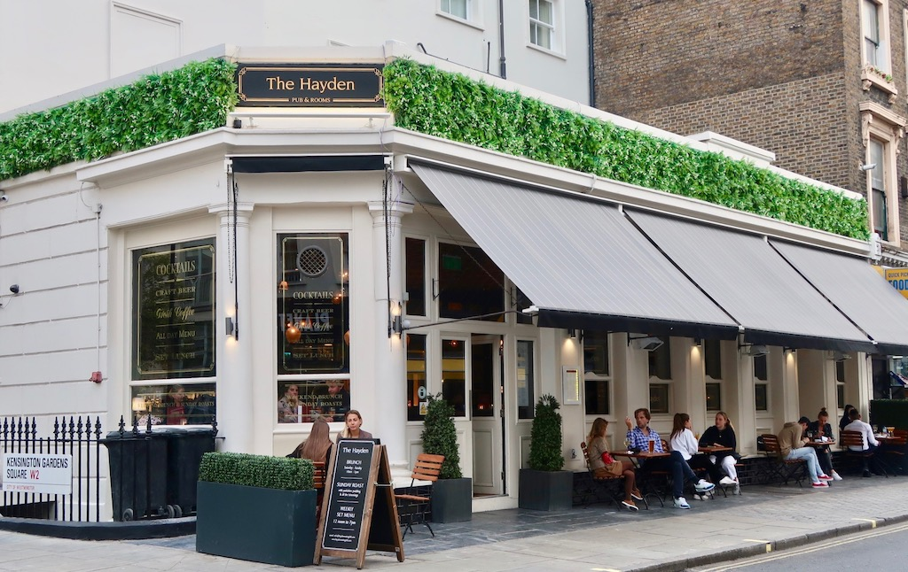 The Hayden pub with rooms, Notting Hill