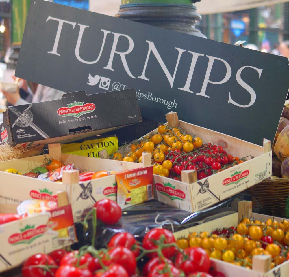 Turnips Borough Market - seasonal vegetables and fruits