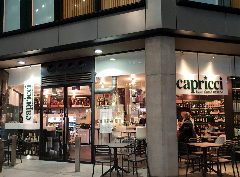 Capricci, London. exterior