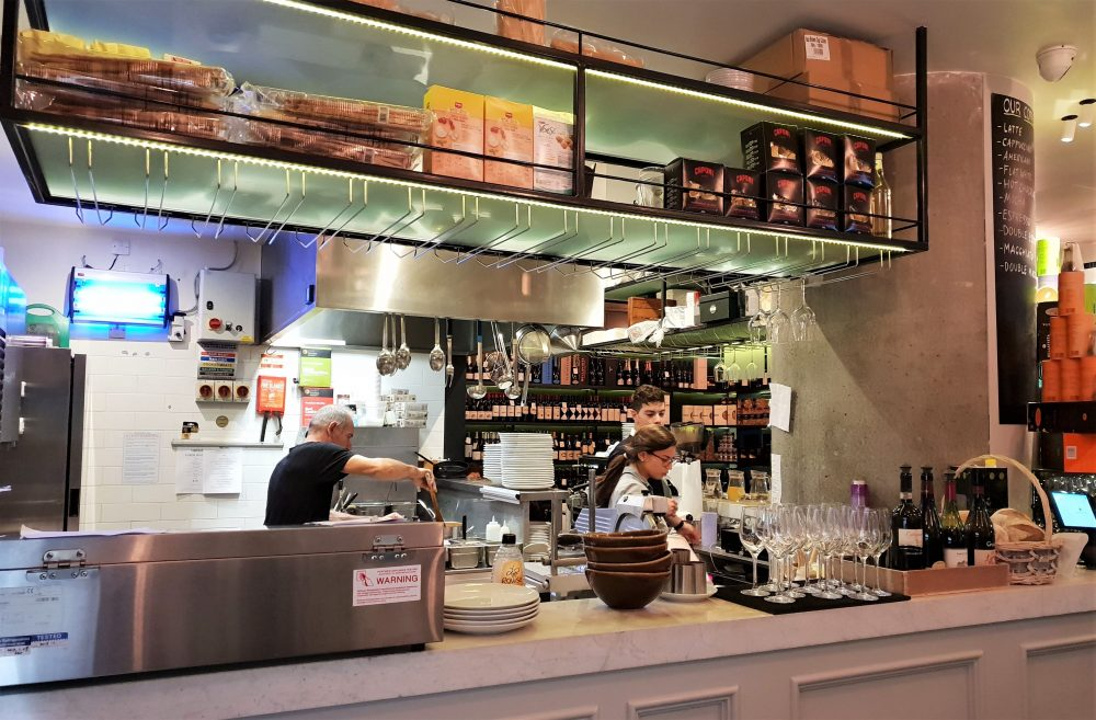 Capricci, London, kitchen