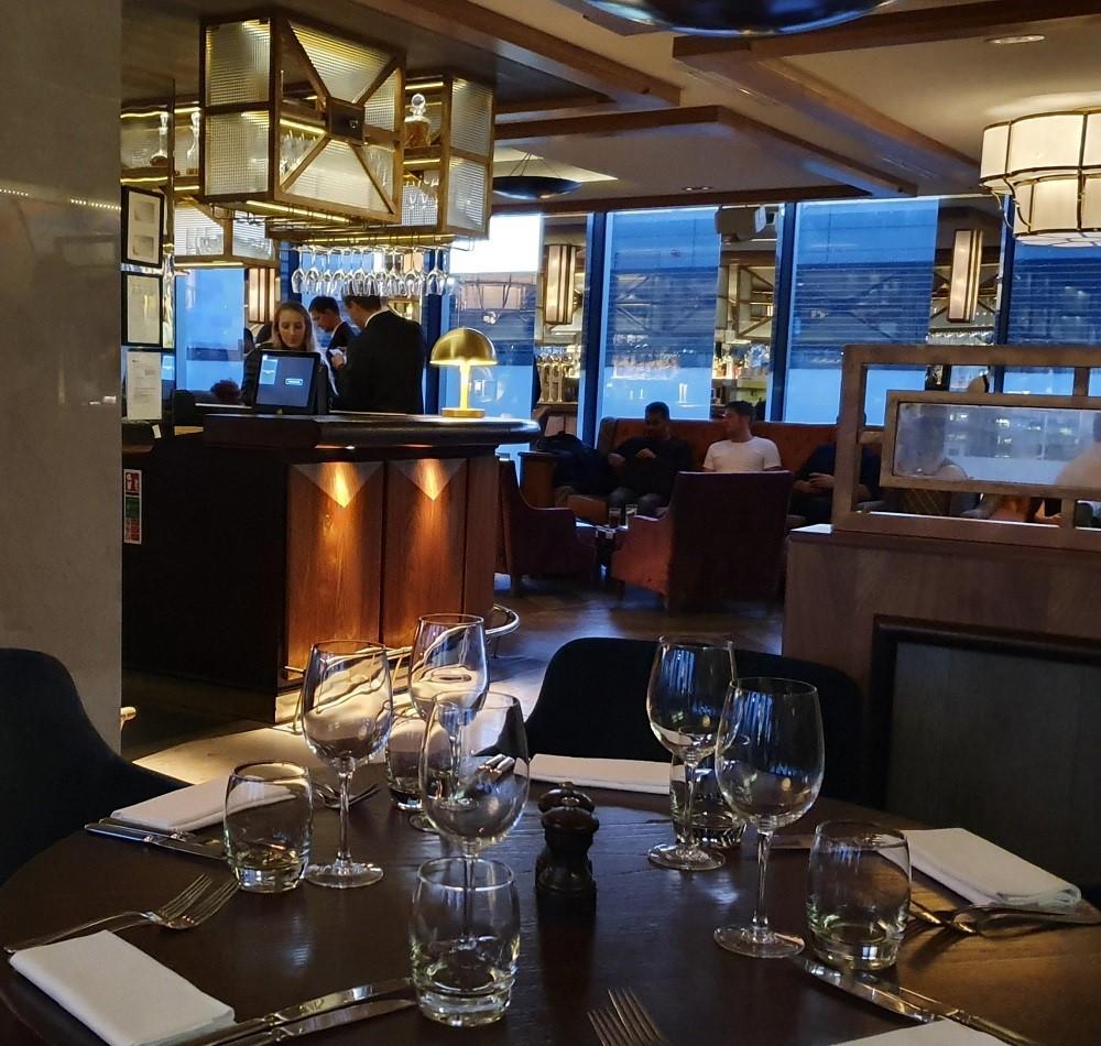– Aviary - restaurant interior bar.