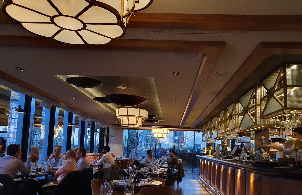 Aviary - restaurant interior.