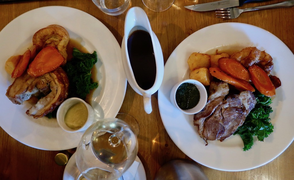 Ealing Park Tavern - roast pork and lamb