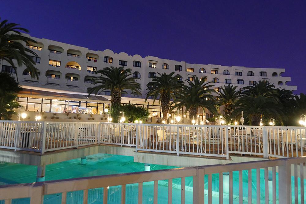 Hotel Menar, Hammamet at night