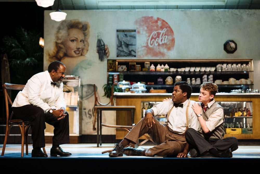 Lucian Msamati, Hammed Animashaun and Anson Boon in Master Harold...and the boys (c) Helen Murray-min
