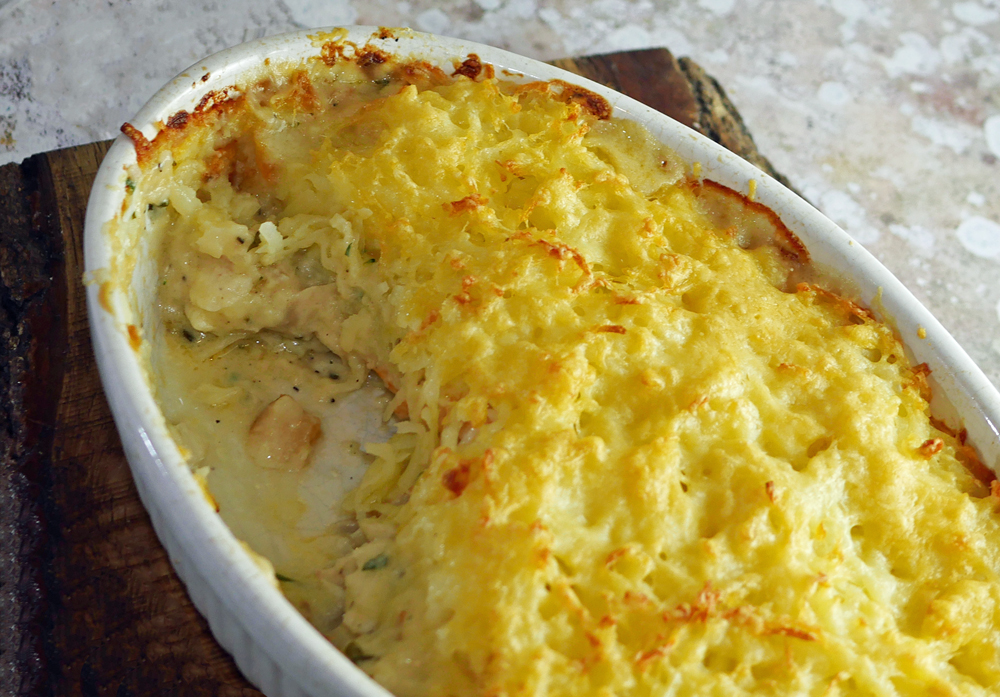 Rosti Topped Fish Pie Cut