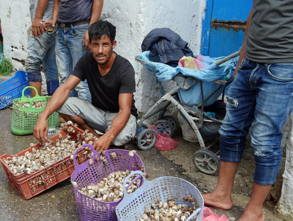 Snails for Sale - Nabeul Medina