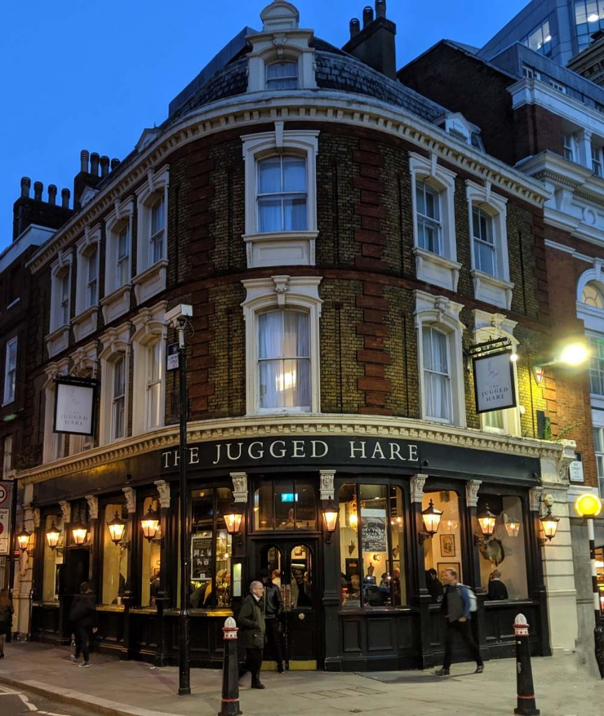 The Jugged Hare London Exterior
