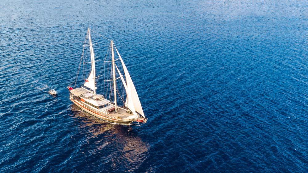 Turkish Gulet Sailing in the Mediterranean